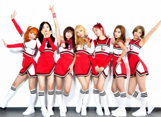 Famous South Korean girl band Lipbubble 7 members in photo