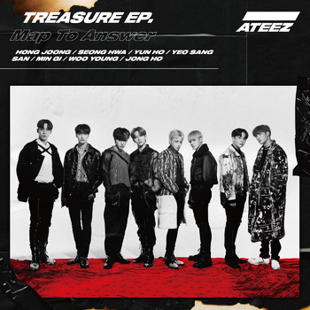ateez album 7 treasure map to answer